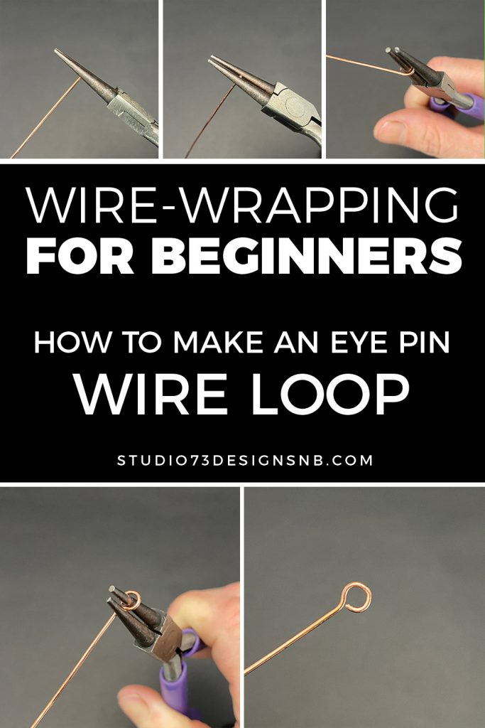How to Make an eye pin wire loop - wire-wrapping for beginners