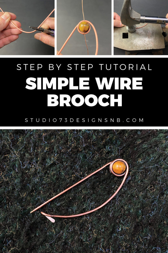 Wire Wrapping Tutorial Simple Wire Brooch